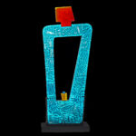 Ensan III - Abstract Glass Figure - Glass and Metal